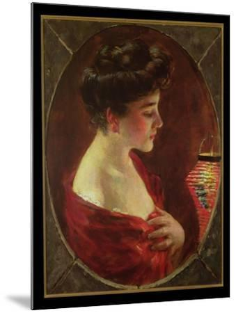 Woman with Japanese Lantern-James Carroll Beckwith-Mounted Giclee Print