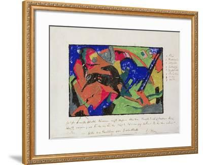 Two Horses, 1911-12-Franz Marc-Framed Giclee Print