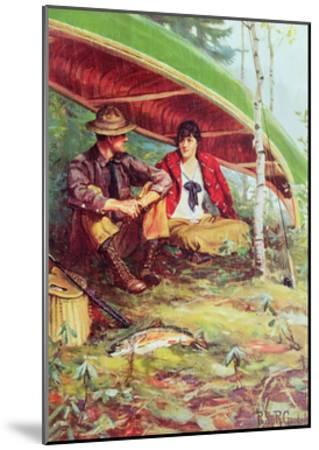 Couple Taking Shelter from the Rain under a Boat-Philip Russell Goodwin-Mounted Giclee Print
