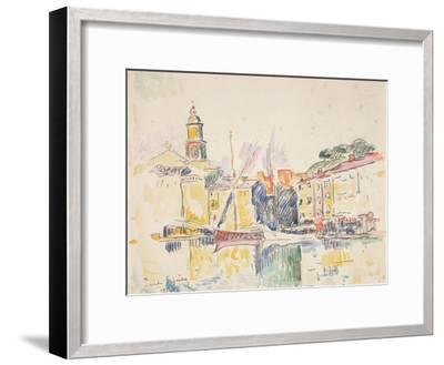 French Port of St. Tropez, 1914-Paul Signac-Framed Giclee Print