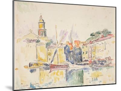 French Port of St. Tropez, 1914-Paul Signac-Mounted Giclee Print