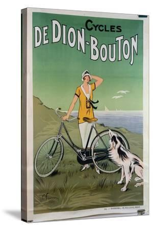 Poster Advertising the 'De Dion-Bouton' Cycles, 1925-Felix Fournery-Stretched Canvas Print