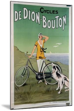 Poster Advertising the 'De Dion-Bouton' Cycles, 1925-Felix Fournery-Mounted Giclee Print