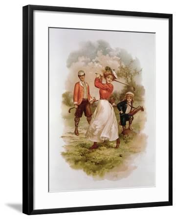 Golfing-Ellen Hattie Clapsaddle-Framed Giclee Print