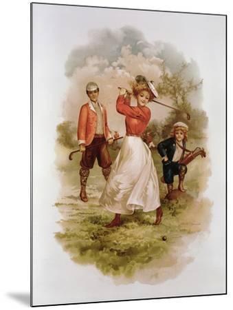 Golfing-Ellen Hattie Clapsaddle-Mounted Giclee Print