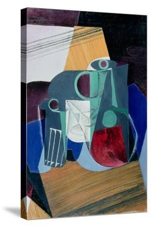Wine Jug and Glass, 1916-Juan Gris-Stretched Canvas Print