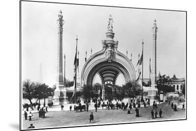 The Monumental Entrance at the Place de La Concorde at the Universal Exhibition of 1900, Paris-French Photographer-Mounted Photographic Print