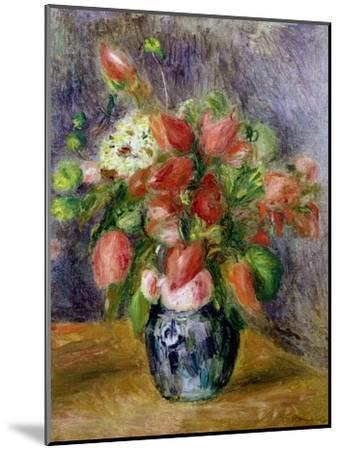 Vase of Flowers, c.1909-Pierre-Auguste Renoir-Mounted Giclee Print