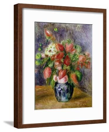 Vase of Flowers, c.1909-Pierre-Auguste Renoir-Framed Giclee Print