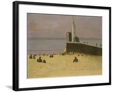 The Jetty at Honfleur, 1920-F?lix Vallotton-Framed Giclee Print