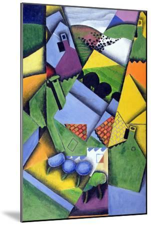 Landscape and Houses at Ceret, 1913-Juan Gris-Mounted Giclee Print