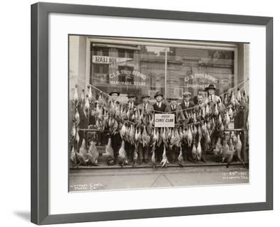 Result of a Duck Shoot Near Houston, Texas, USA, 1921- Litterst Commercial Photo Company-Framed Photographic Print