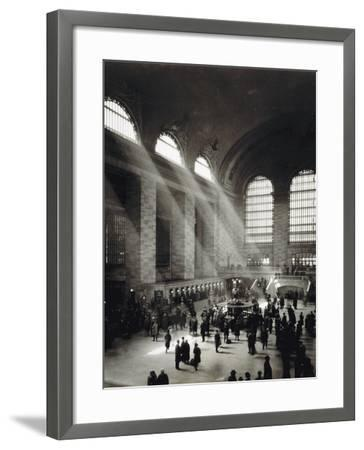 Holiday Crowd at Grand Central Terminal, New York City, c.1920-American Photographer-Framed Photographic Print
