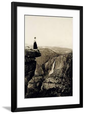 Looking across the Valley to Yosemite Falls, USA, 1917-Underwood & Underwood-Framed Photographic Print