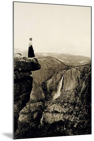 Looking across the Valley to Yosemite Falls, USA, 1917-Underwood & Underwood-Mounted Photographic Print