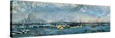 Convoy in Bedford Basin-Arthur Lismer-Stretched Canvas Print