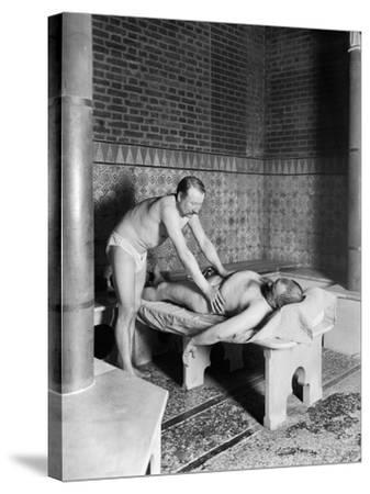 A Hammam in Paris, c.1900-French Photographer-Stretched Canvas Print