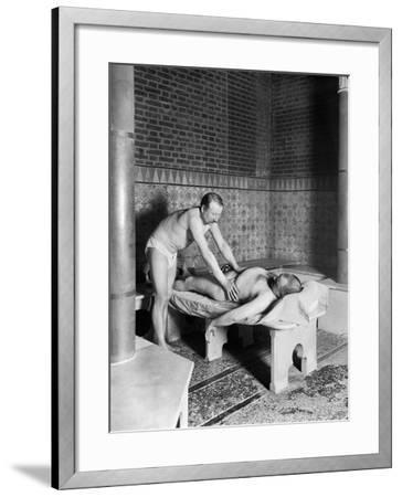 A Hammam in Paris, c.1900-French Photographer-Framed Photographic Print