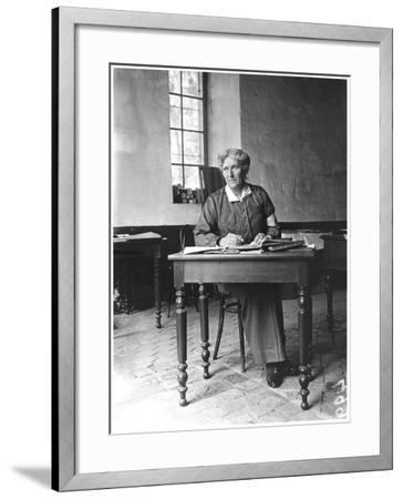 Mrs Harley (D.1917) at the Abbey of Royaumont, 1915-Jacques Moreau-Framed Photographic Print