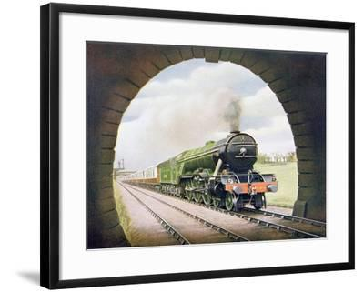The 'Queen of Scots' of the North Eastern Railway, Illustration from 'The Wonder Book of…-English School-Framed Giclee Print