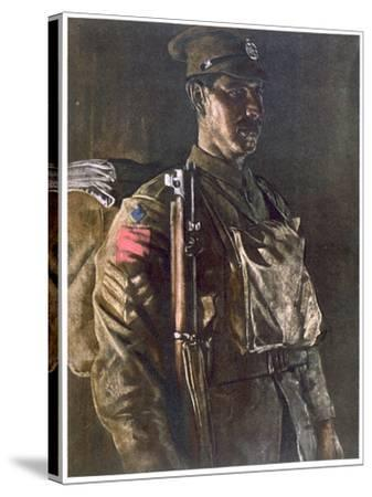 The Rifle Brigade, from British Artists at the Front, Continuation of the Western Front, Part…-Eric Henri Kennington-Stretched Canvas Print