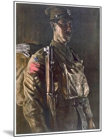 The Rifle Brigade, from British Artists at the Front, Continuation of the Western Front, Part…-Eric Henri Kennington-Mounted Giclee Print