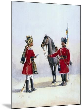 Alwar Lancers, Commandment and Chohan Rajput, Illustration for 'Armies of India' by Major G.F.…-Alfred Crowdy Lovett-Mounted Giclee Print