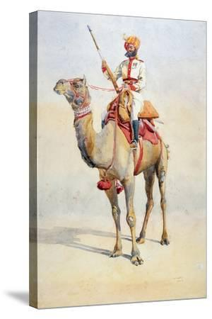 Sowar of the Bikanir Camel Corps, Illustration for 'Armies of India' by Major G.F. MacMunn,…-Alfred Crowdy Lovett-Stretched Canvas Print