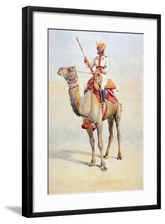Sowar of the Bikanir Camel Corps, Illustration for 'Armies of India' by Major G.F. MacMunn,…-Alfred Crowdy Lovett-Framed Giclee Print