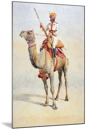 Sowar of the Bikanir Camel Corps, Illustration for 'Armies of India' by Major G.F. MacMunn,…-Alfred Crowdy Lovett-Mounted Giclee Print