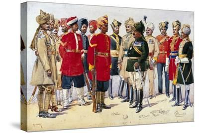 Imperial Service Troops, Illustration from 'Armies of India' by Major G.F. MacMunn, Published in…-Alfred Crowdy Lovett-Stretched Canvas Print