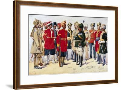 Imperial Service Troops, Illustration from 'Armies of India' by Major G.F. MacMunn, Published in…-Alfred Crowdy Lovett-Framed Giclee Print