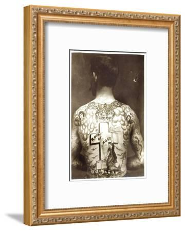 Tattoed Man--Framed Photographic Print