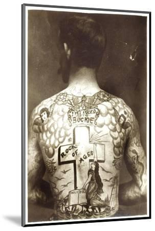 Tattoed Man--Mounted Photographic Print