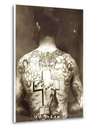 Tattoed Man--Metal Print