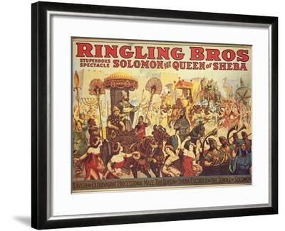 Poster Advertising the 'Ringling Bros.' Circus, c.1900-American School-Framed Giclee Print