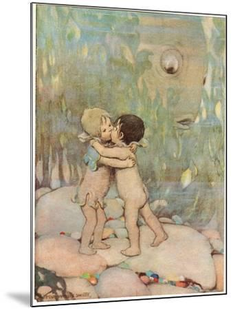 Tom and Ellie, Illustration from 'The Water Babies' by Reverend Charles Kingsley-Jessie Willcox-Smith-Mounted Giclee Print