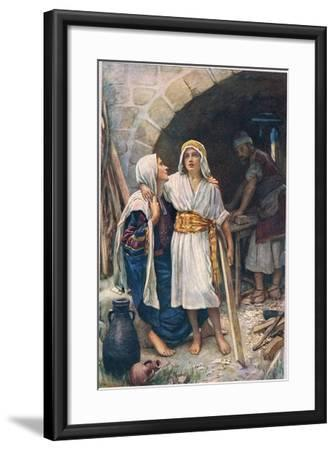 Mary and Jesus, Illustration from 'Women of the Bible', Published by the Religious Tract Society,…-Harold Copping-Framed Giclee Print