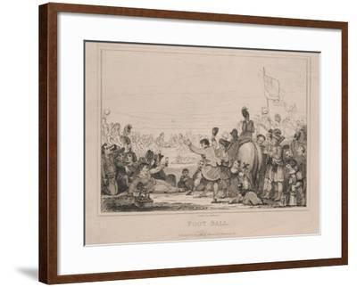 Foot Ball-English School-Framed Giclee Print