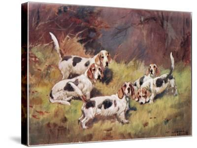 Waiting, Illustration from 'Hounds'-Thomas Ivester Lloyd-Stretched Canvas Print