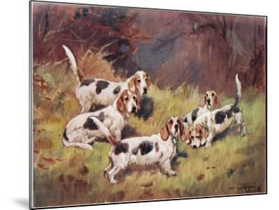 Waiting, Illustration from 'Hounds'-Thomas Ivester Lloyd-Mounted Giclee Print