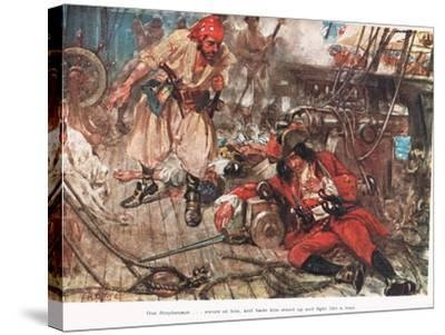 One Stephenson...Bade Him Stand Up and Fight Like a Man, Illustration from -A.D. McClintock-Stretched Canvas Print