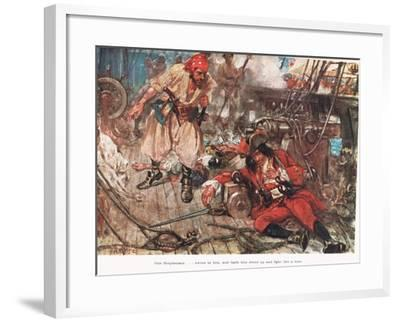 One Stephenson...Bade Him Stand Up and Fight Like a Man, Illustration from -A.D. McClintock-Framed Giclee Print