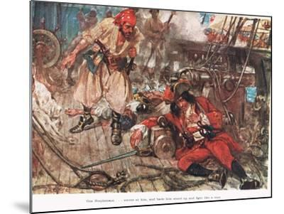 One Stephenson...Bade Him Stand Up and Fight Like a Man, Illustration from -A.D. McClintock-Mounted Giclee Print