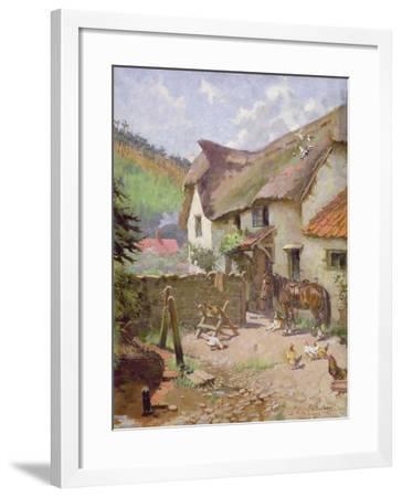Farmyard, Porlock, Somerset-Leghe Suthers-Framed Giclee Print