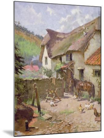 Farmyard, Porlock, Somerset-Leghe Suthers-Mounted Giclee Print