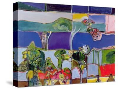 Lake Annecy, 1994-Derek Balmer-Stretched Canvas Print