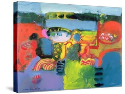 Estuary, 1990-Derek Balmer-Stretched Canvas Print