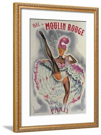 Party at the Moulin Rouge-French School-Framed Giclee Print