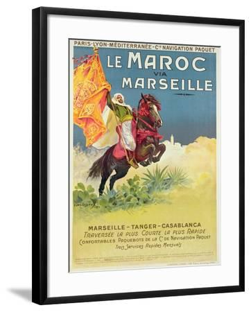 Morocco and Marseille Poster, 1913-Ernest Louis Lessieux-Framed Giclee Print